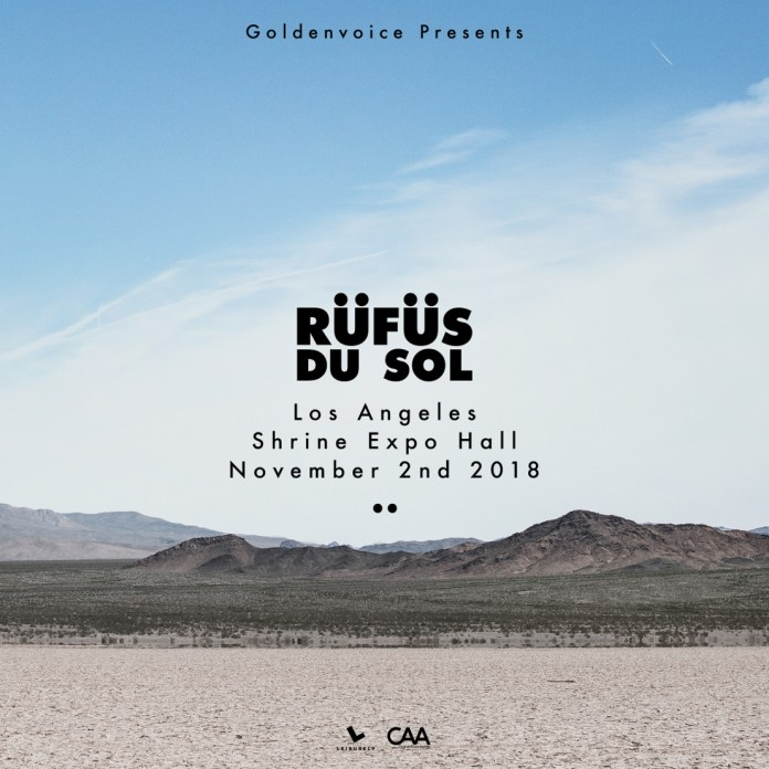 RÜFÜS DU SOL at Shrine Expo Hall Flyer
