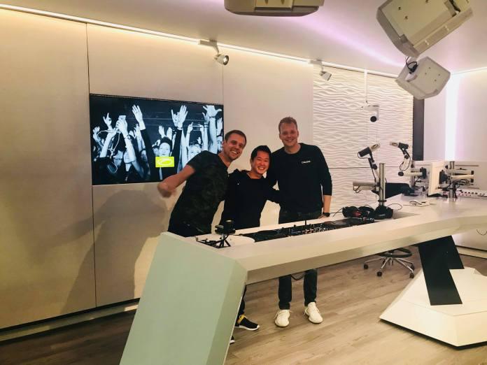 LTN Armin van Buuren and Ruben de Ronde at ASOT studios