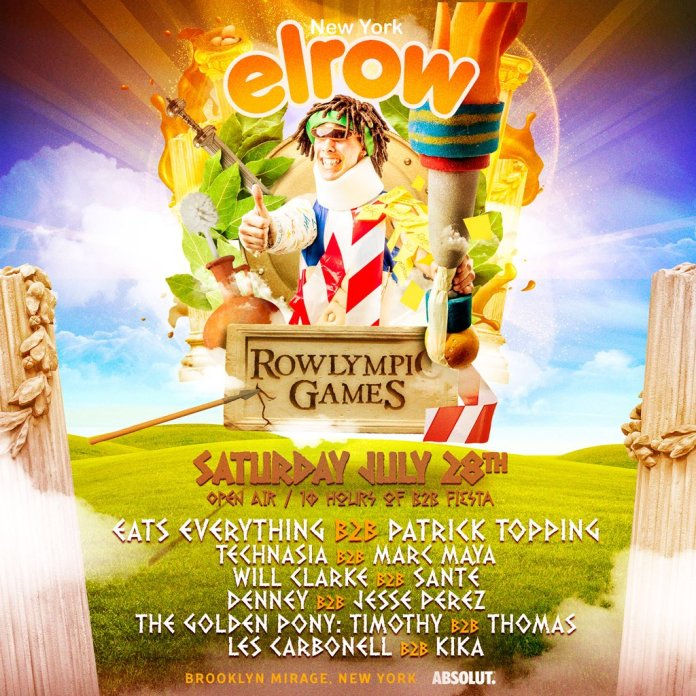 elrow Brooklyn Mirage Rowlympics 2018