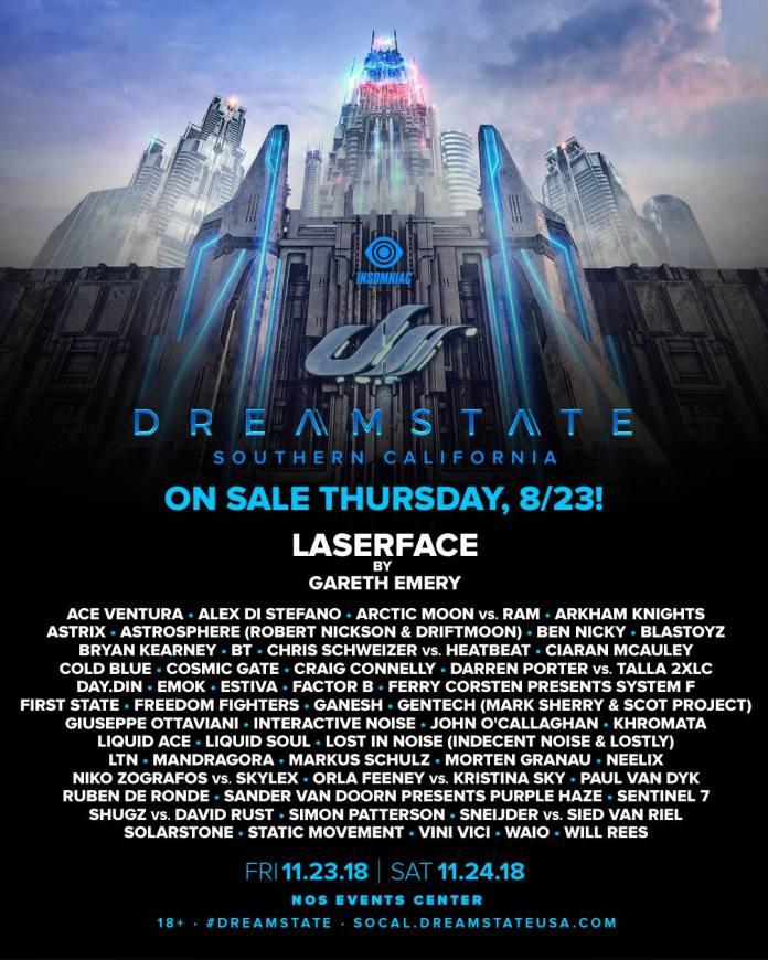 Dreamstate SoCal 2018 Lineup