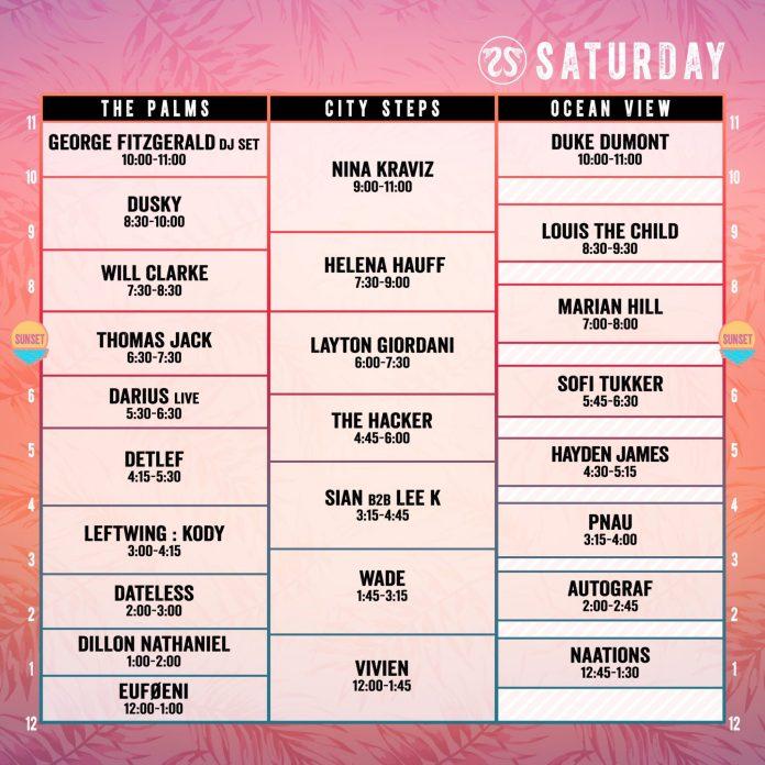 CRSSD Festival Fall 2018 Set Times Saturday