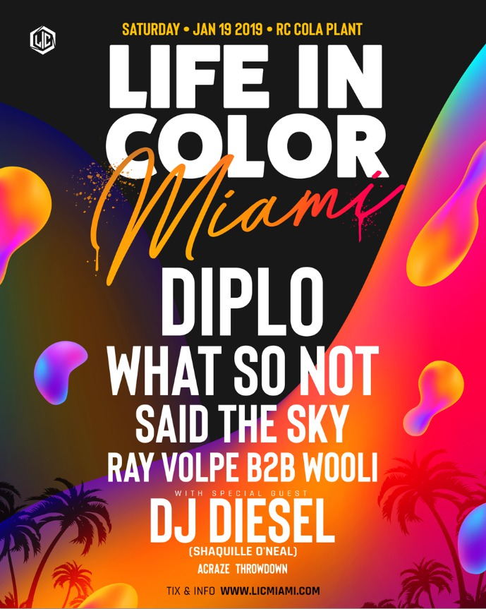 Life In Color Miami 2019 Lineup