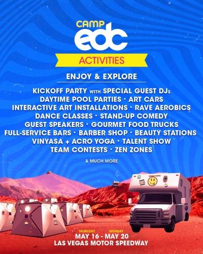 Camp EDC Activities EDC Las Vegas 2019