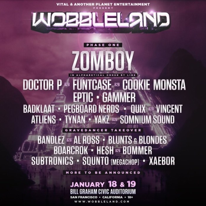 Wobbleland 2019 Phase 1 Lineup