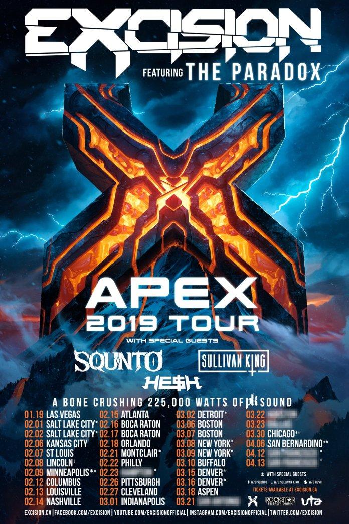 Excision Apex 2019 Tour