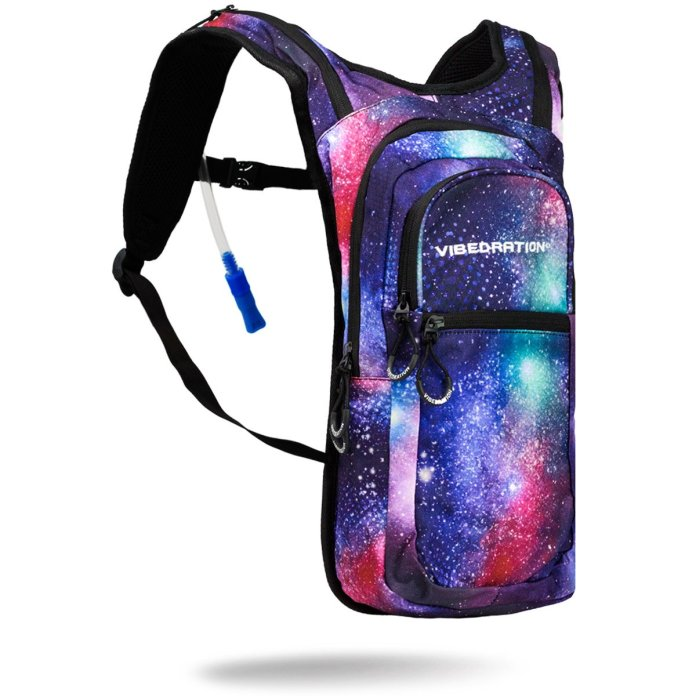 VibedrationFestival Hydration Pack, 2L Capacity, Galaxy Edition