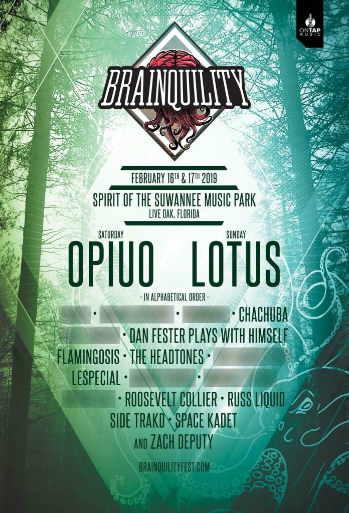 Brainquility Music Festival Phase One Lineup