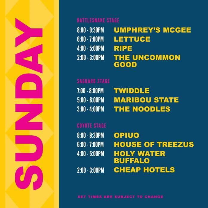 M3F 2019 Set Times - Sunday
