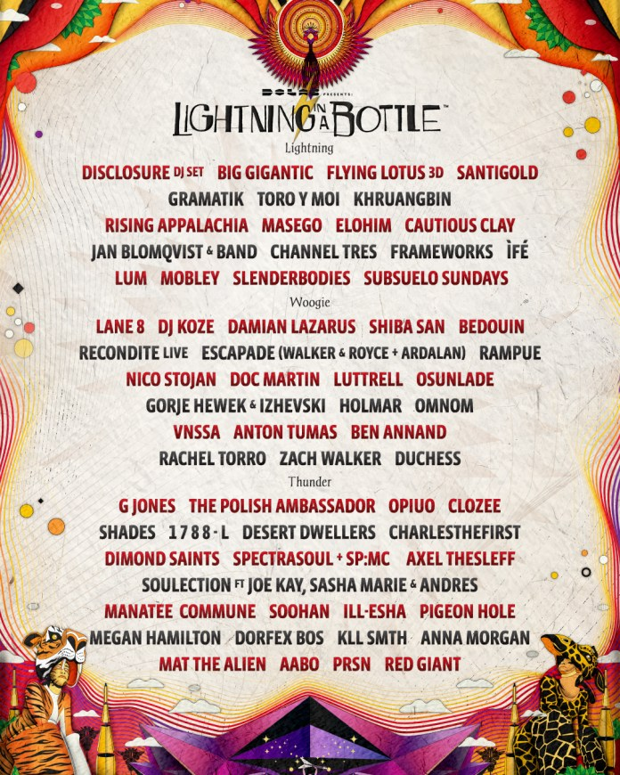 Lightning in a Bottle 2019 Phase 1 Lineup
