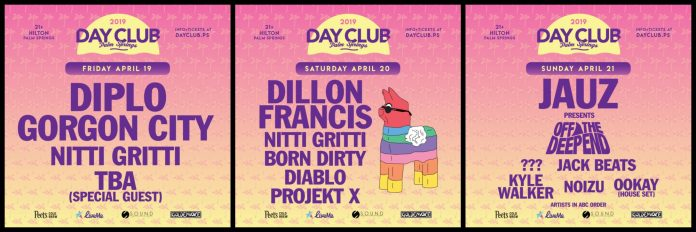 Day Club Palm Springs 2019 Lineup - Weekend 2