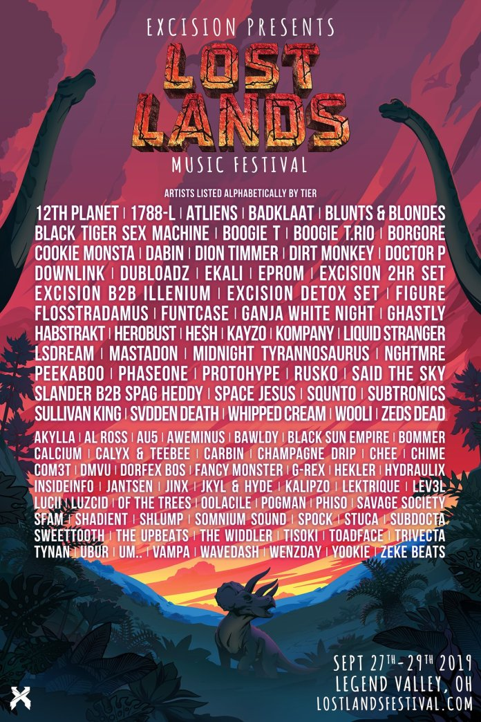 Lost Lands Music Festival 2019 Lineup