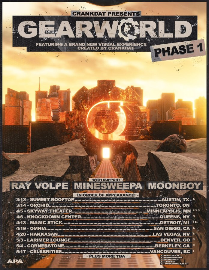 Crankdat presents GEARWORLD tour