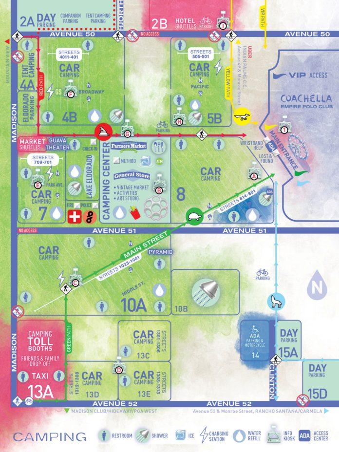 Coachella Camping Map 2019