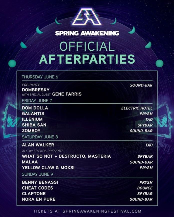 Spring Awakening 2019 Official Afterparties