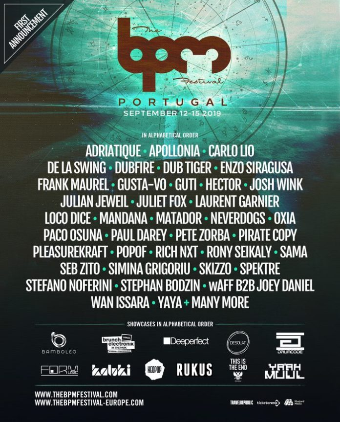 The BPM Festival Portugal 2019 Phase One Lineup