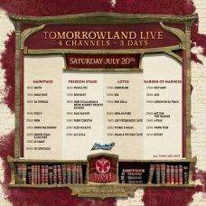 Tomorrowland 2019 Weekend 1 Live Stream Schedule Saturday