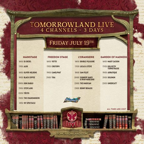 Tomorrowland 2019 Weekend 1 Live Stream Schedule Friday