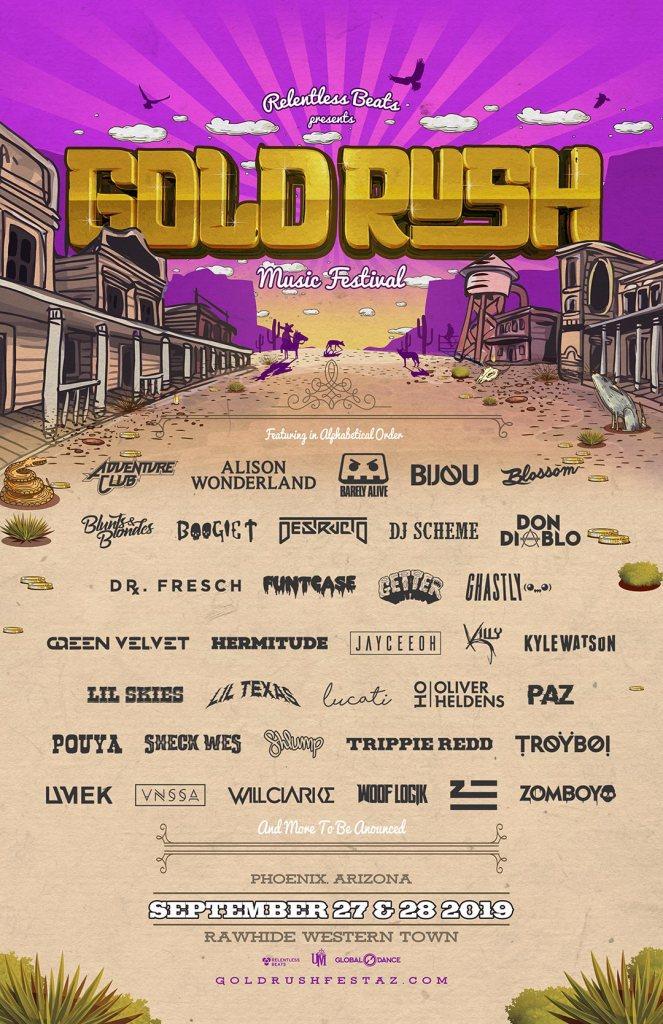 Goldrush Music Festival 2019 Phase 2 Lineup