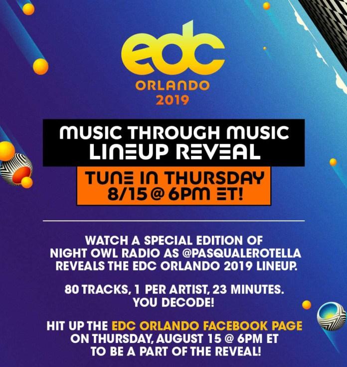 EDC Orlando 2019 Lineup Reveal