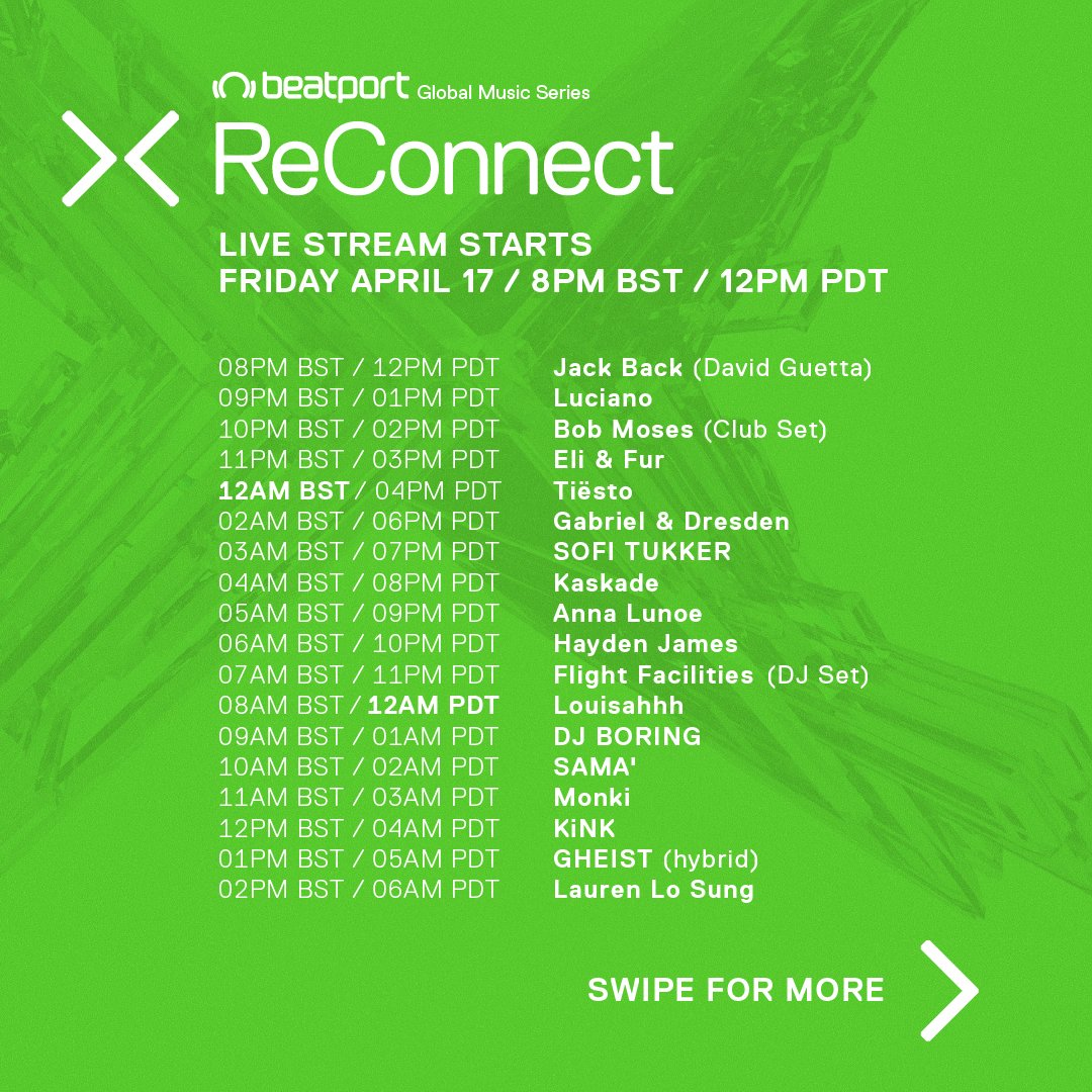 Beatport Presents ReConnect II Set Times