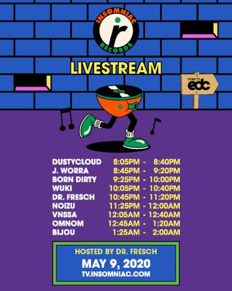 Insomniac Records Livestream Schedule