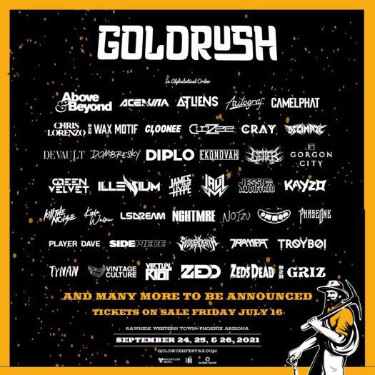 Goldrush shares gilded 2021 lineup: Zedd, Gorgon City, Above & Beyond, and moreE6TcJBdUcAAhaL
