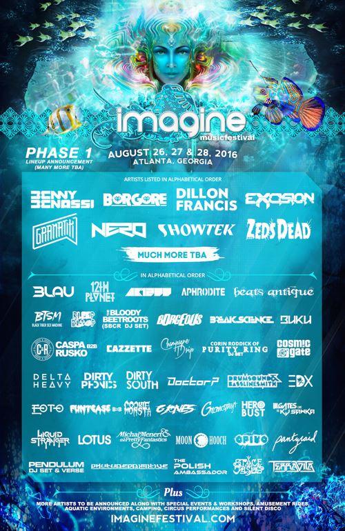 imagine music festival 2016 lineup