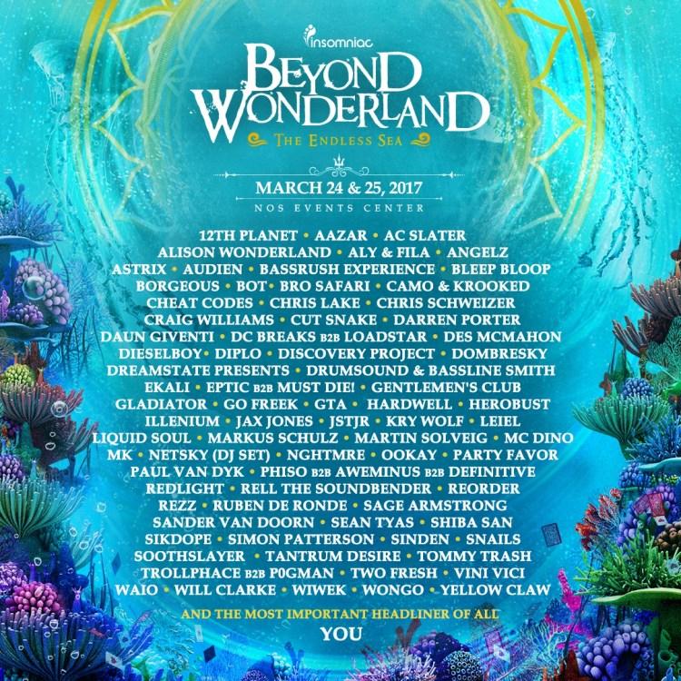 Beyond Wonderland Lineup