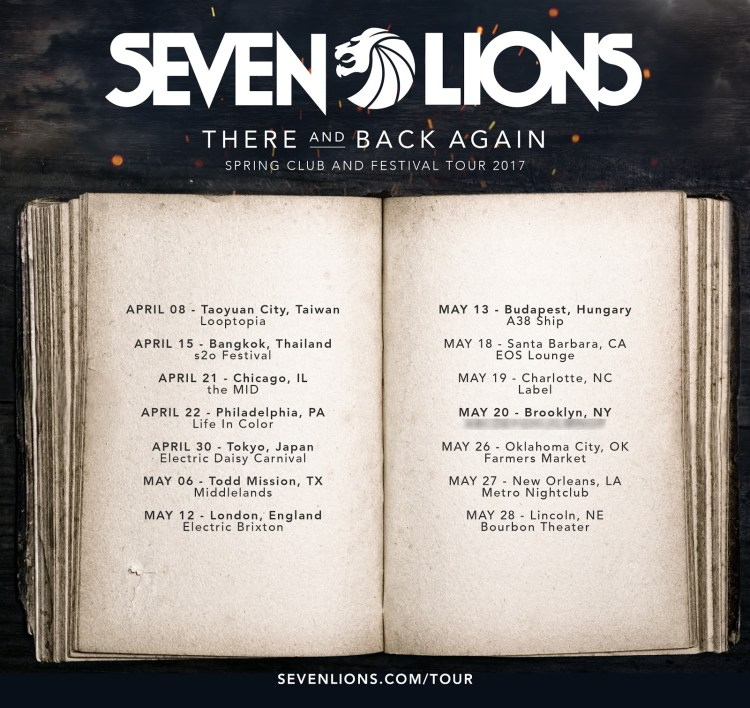 There & Back Tour Dates