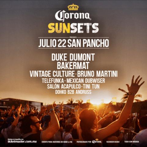 Corona Sunsets Mexico Flier