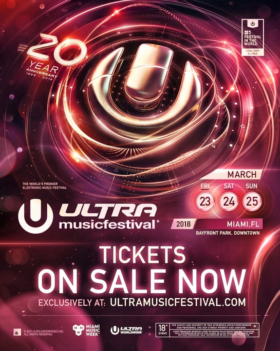 Ultra Music Festival 2018 Tickets Sale Flier