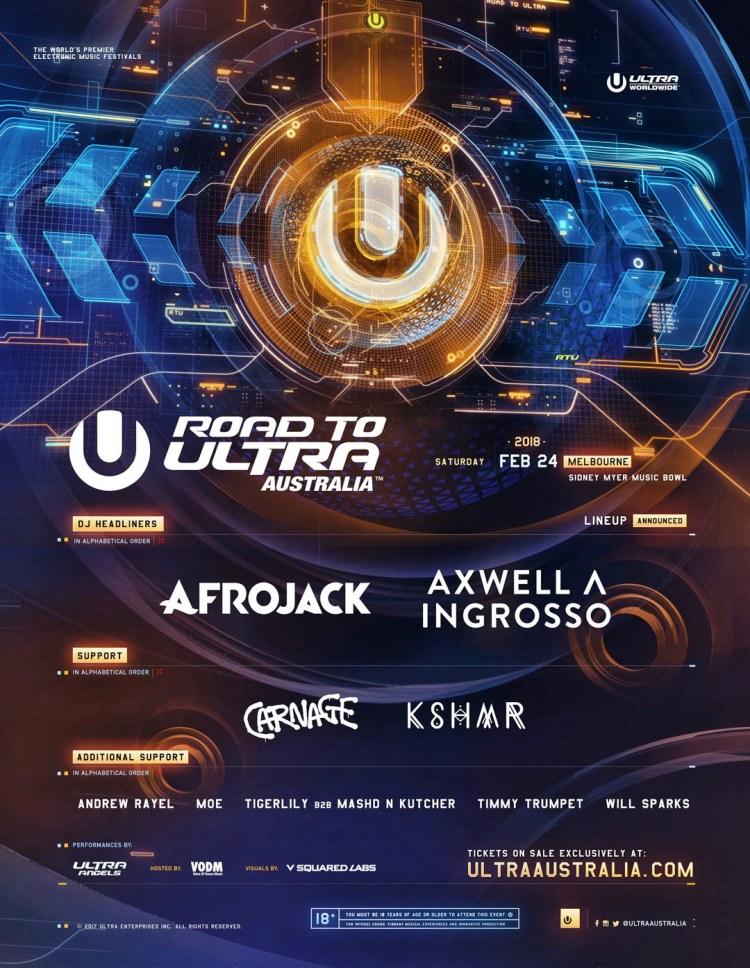Ultra Australia 2018 Flyer