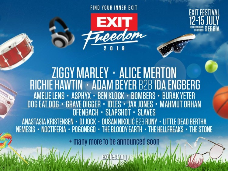 EXIT Festival 2018 Flyer