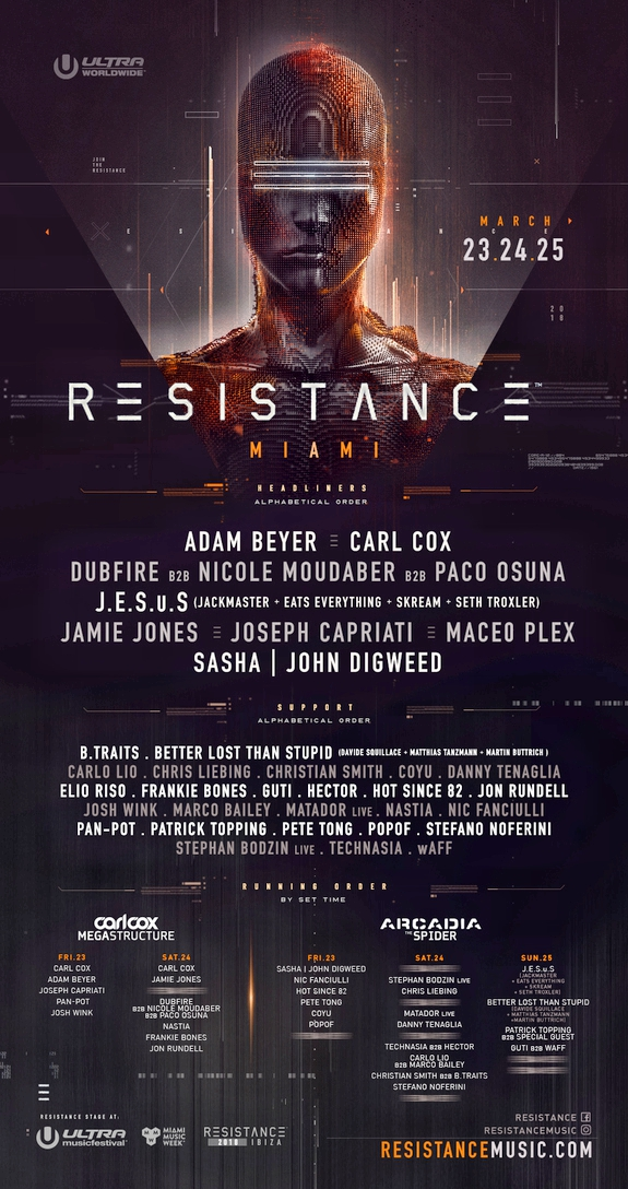Resistance Miami 2018 Flyer