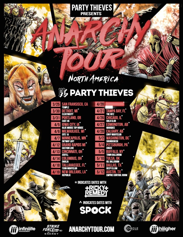 Party Thieves 2018 Tour Flyer