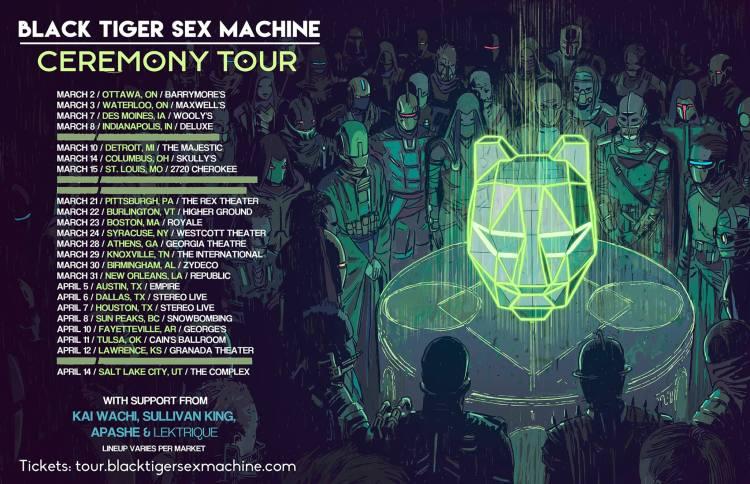 Black Tiger Sex Machine Ceremony Tour 2018