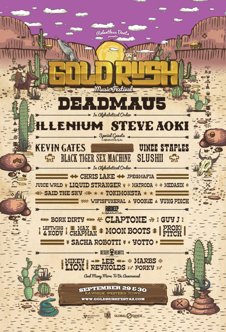 Goldrush 2018 Phase One Lineup Flyer