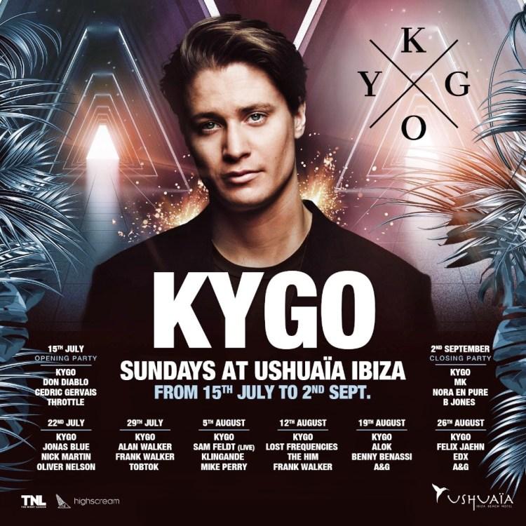 Kygo Ushuaia Ibiza 2018 Flyer