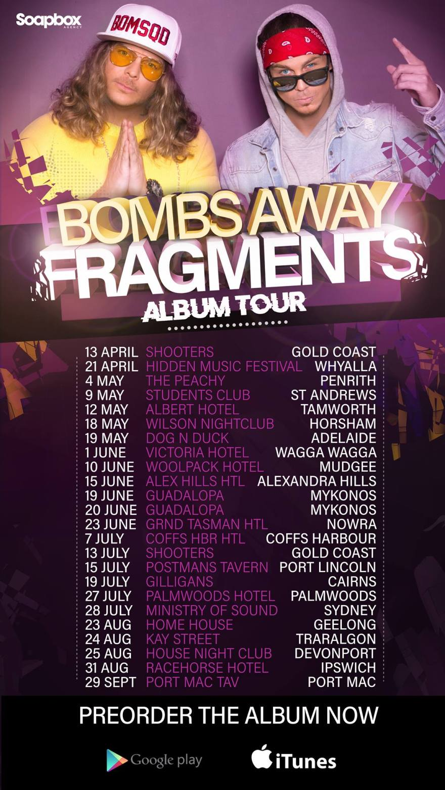 Bombs Away Fragments 2018 Tour