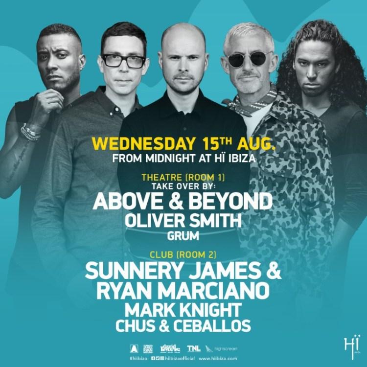 Above & Beyond Ibiza Flyer