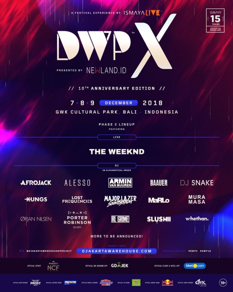 Djakarta Warehouse Project X 2018 Flyer