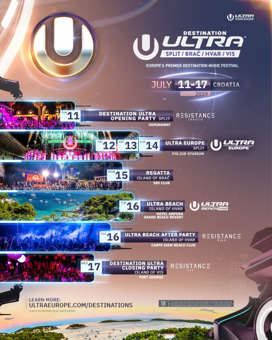 Ultra Europe 2019 Teaser Flyer