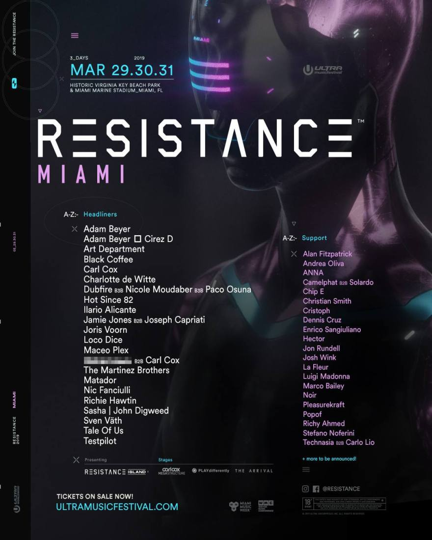 Resistance Miami 2019 Flyer