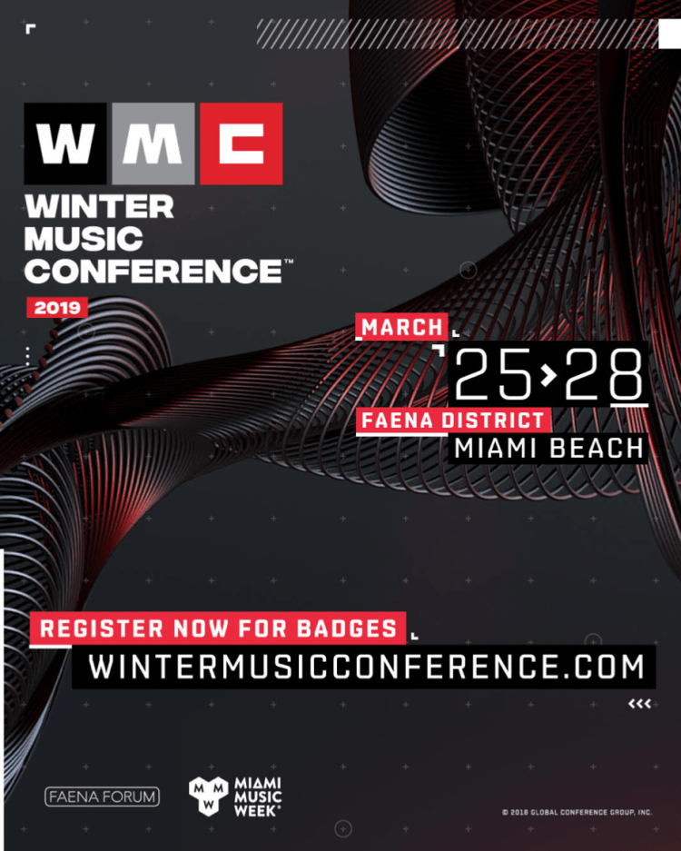 Winter Music Conference 2019 Flyer