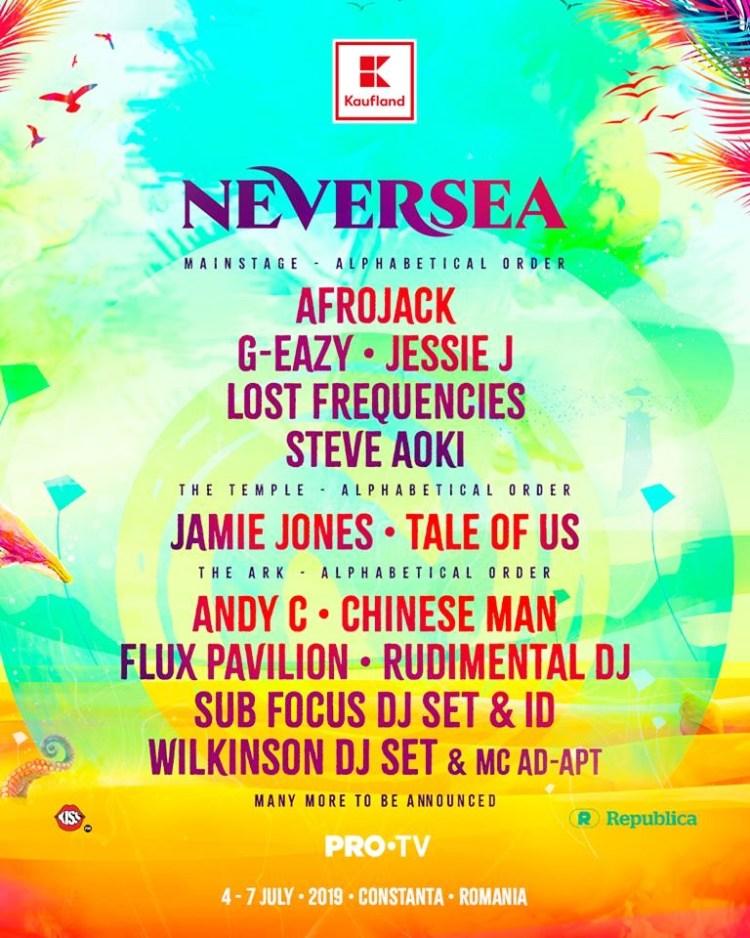 Neversea 2019 Lineup Flyer