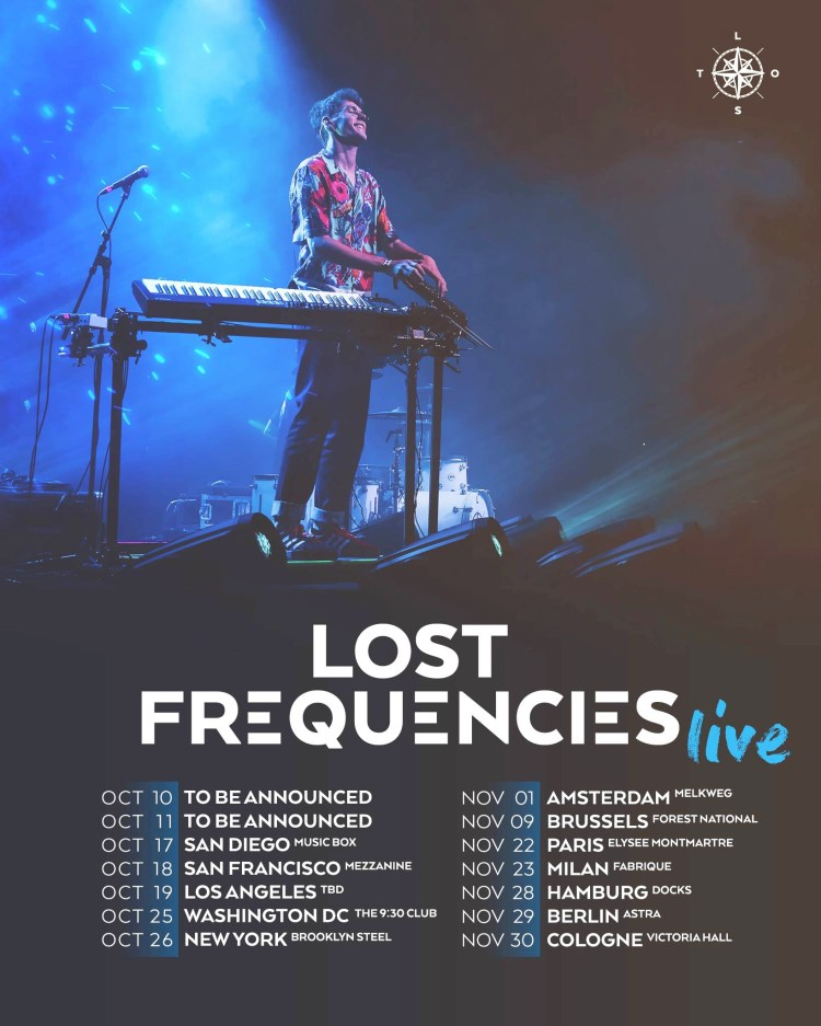 Lost Frequencies 2019 Tour Flyer