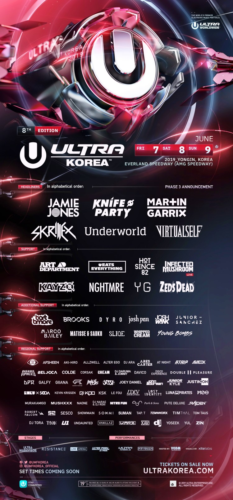 Ultra Korea 2019 Flyer