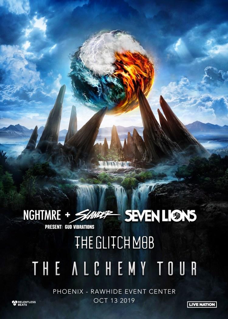 NGHTMRE + SLANDER Alchemy Tour 2019 Flyer
