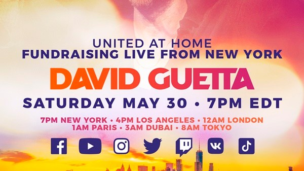 David Guetta United At Home Fundraising Live From New York