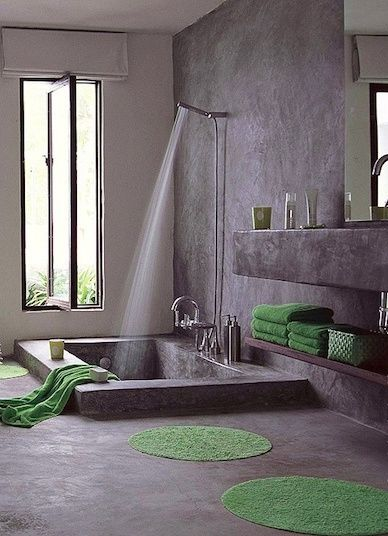 Stone Shower Tub Combo